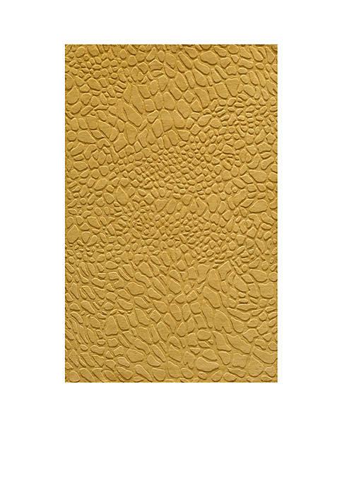 Momeni Gramercy Pebbles Gold Area Rug 5 x
