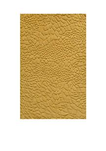 Gramercy Pebbles Gold Area Rug 5' x 8'