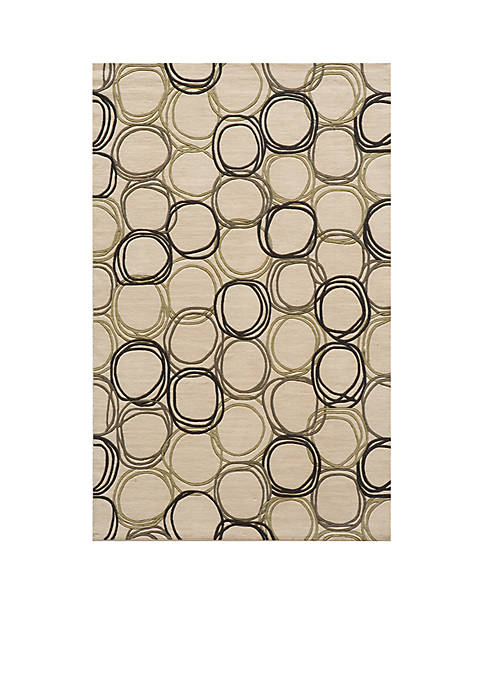 "Momeni Elements Honeycomb Ivory Area Rug 26"" x"