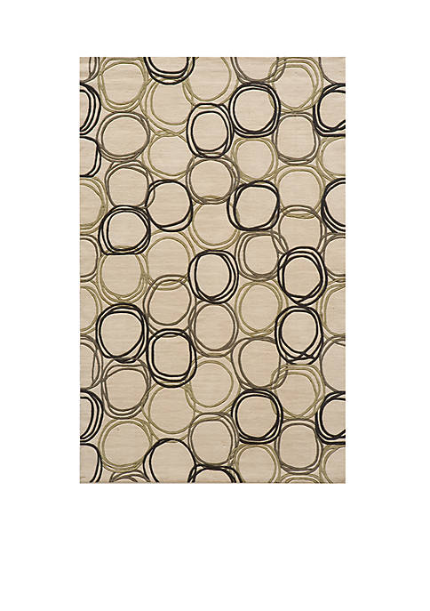 Momeni Elements Honeycomb Ivory Area Rug 3 x