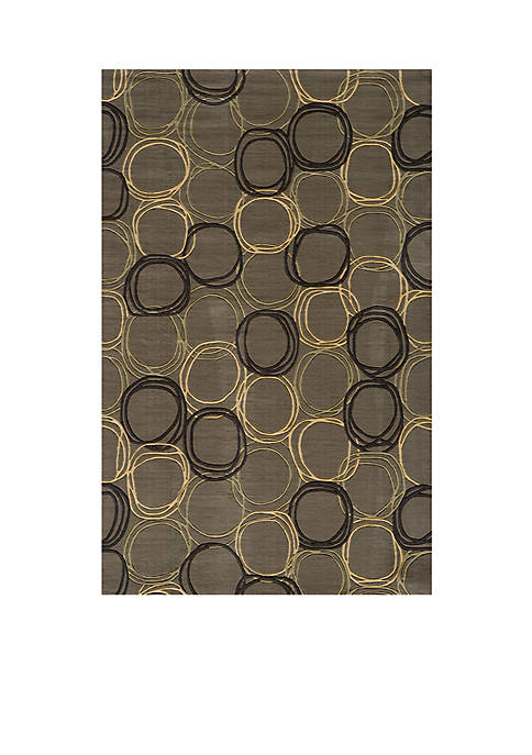 Momeni Elements Honeycomb Gray Area Rug 3 x