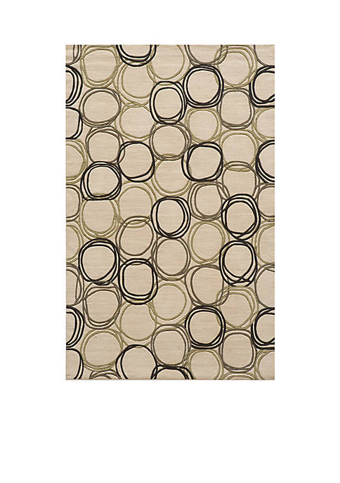 Momeni Elements Honeycomb Ivory Area Rug 5 x