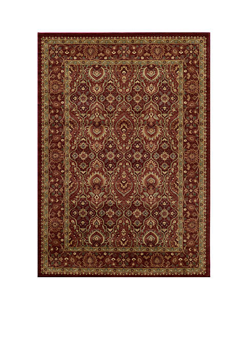 Momeni Belmont Ivy Red Area Rug 2 x