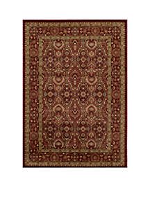 Belmont Ivy Red Area Rug 2' x 3'