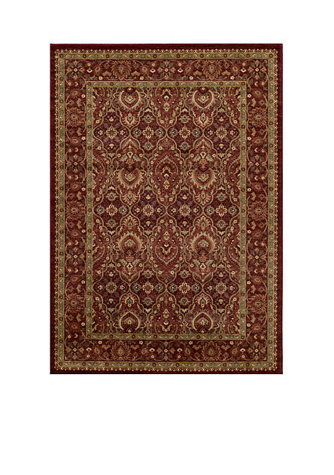 "Momeni Belmont Ivy Red Area Rug 23"" x"