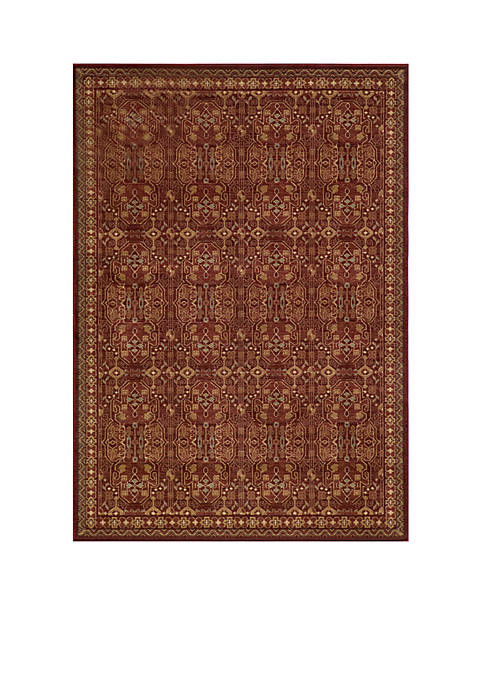 "Momeni Belmont Castles Red Area Rug 311"" x"