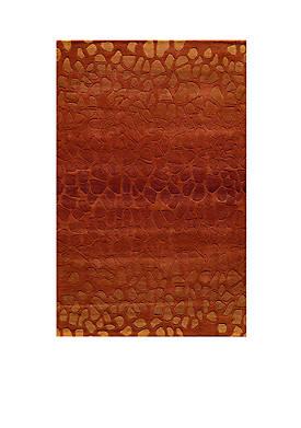 """Delhi Pebble Paprika Area Rug 23"""" x 8"""