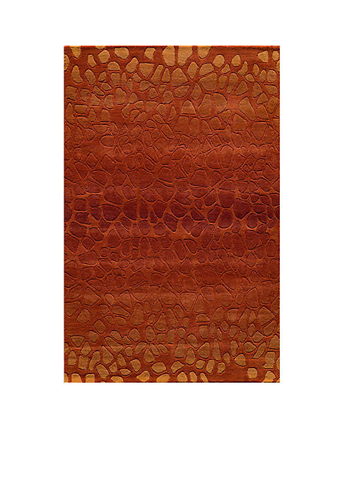 "Momeni Delhi Pebble Paprika Area Rug 23"" x"