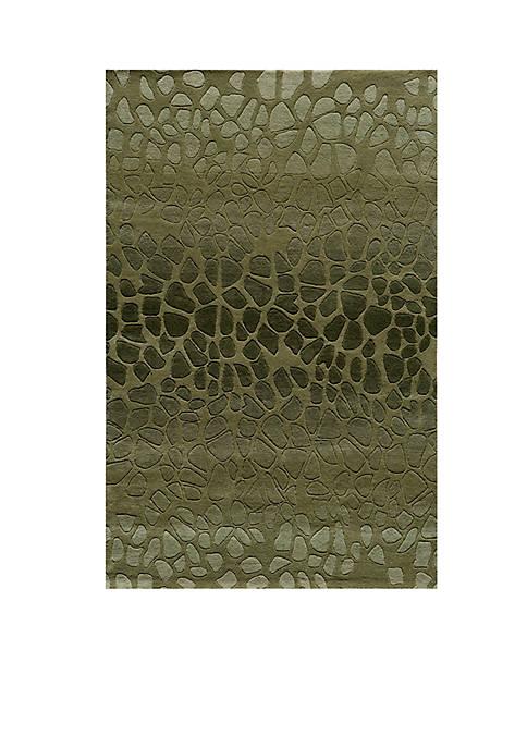 Momeni Delhi Pebbles Green Area Rug 5 x