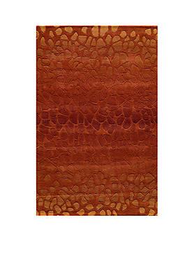 Delhi Pebble Paprika Area Rug 5 x 8