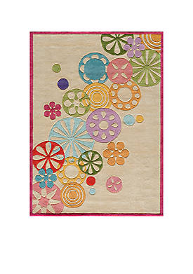 Lil Mo Hipster Pinwheel Ivory Area Rug 4 x 6