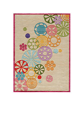 Lil Mo Hipster Pinwheel Ivory Area Rug 5 x 5