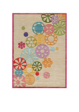 Lil Mo Hipster Pinwheel Ivory Area Rug 5 x 7