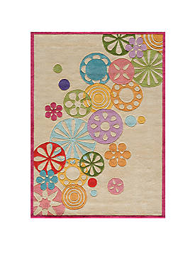 Lil Mo Hipster Pinwheel Ivory Area Rug 8 x 10