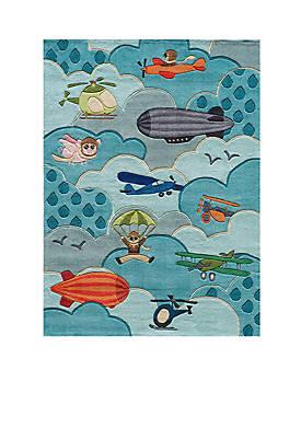 Lil Mo Aviator Blue Area Rug 7 x 5