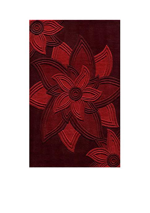 "Momeni Delhi Flowers Red Area Rug 23"" x"