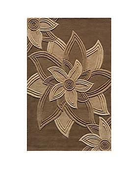 Delhi Flower Mocha Area Rug 5 x 8