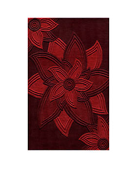 Delhi Flowers Red Area Rug 5 x 8