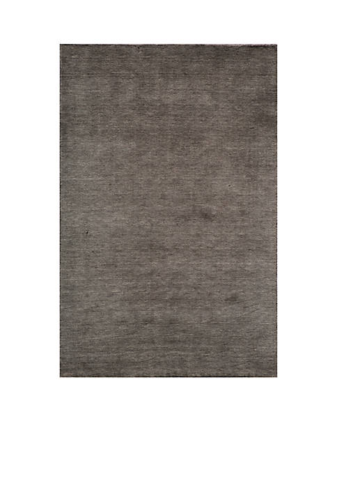 "Momeni Gramercy Solid Charcoal Area Rug 36"" x"