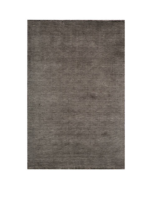 Momeni Gramercy Solid Charcoal Area Rug 5 x