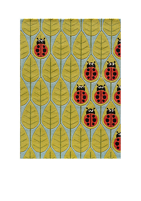 Momeni Lil Mo Lady Bug Green Area Rug