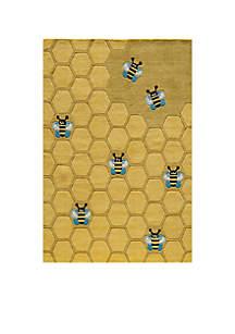 Lil Mo Honeycomb Area Rug 2' x 3'