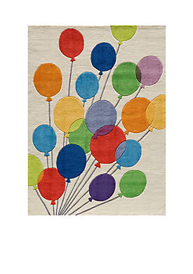 Lil Mo Balloons Beige Area Rug 5¿ x 3¿