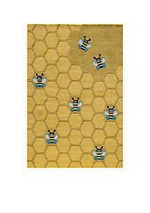 Lil Mo Honeycomb Area Rug 4' x 6'