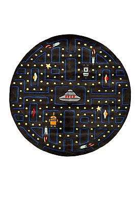Lil Mo Arcade Black Round Area Rug 5