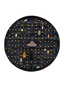 Lil Mo Arcade Black Round Area Rug 5'