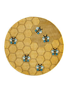 Lil Mo Honeycomb Round Area Rug 5'