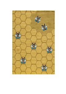 Lil Mo Honeycomb Area Rug 5' x 7'
