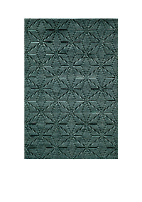 "Momeni Gramercy Diamonds Blue Area Rug 26"" x"