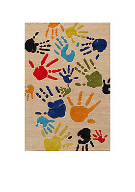 Lil Mo Finger Paint Ivory Area Rug 5¿ x 3¿