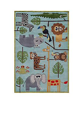 Lil Mo Jungle Area Rug 3 x 5