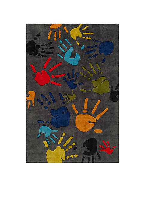 Momeni Lil Mo Finger Paint Charcoal Area Rug