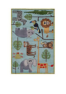 Lil Mo Jungle Area Rug 4 x 6