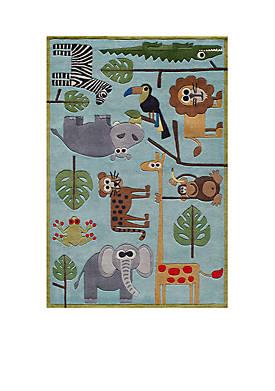 Lil Mo Jungle Area Rug 5 x 7