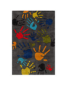 Lil Mo Finger Paint Charcoal Area Rug 10' x 8'
