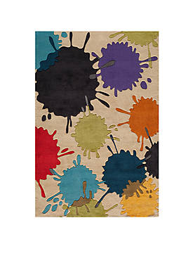 Lil Mo Hipster Paint Splash Ivory Area Rug 3 x 5