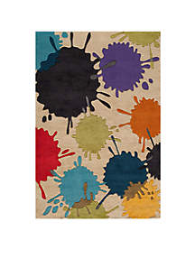 Lil Mo Hipster Paint Splash Ivory Area Rug 3' x 5'