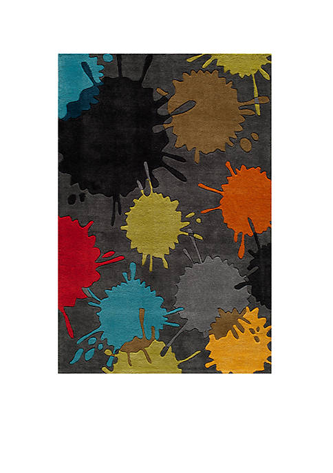 Momeni Lil Mo Hipster Paint Splash Gray Area