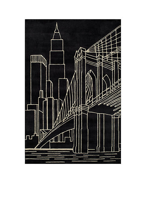 Momeni Lil Mo Hipster NYC Black Area Rug