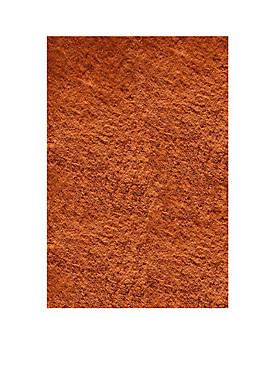 "Luster Shag Solid Tangerine Area Rug 23"" x 8"