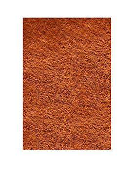 Luster Shag Solid Tangerine Area Rug 3 x 5