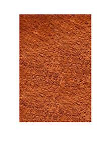 Momeni Luster Shag Solid Tangerine Area Rug 5' x 7'