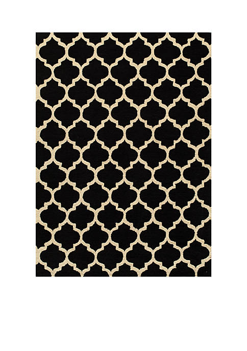 Momeni Geo Tiles Black Area Rug 5 x
