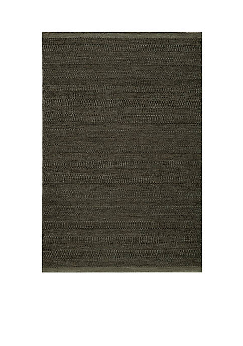 "Momeni Mesa Edge Smoke Area Rug 23"" x"