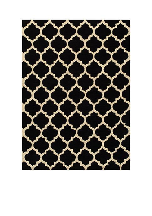 Momeni Geo Tiles Black Area Rug 2 x