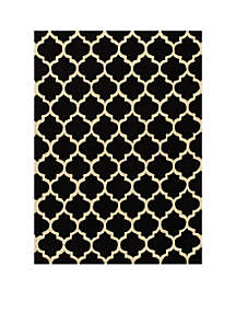 Geo Tiles Black Area Rug 2' x 3'